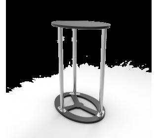 Portable Oval Display Counter With Custom Printing