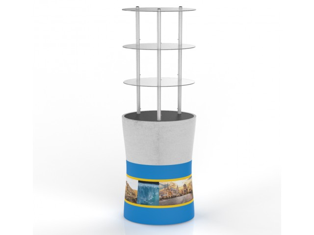 Portable Oval Display Rack/ Display Tower Counter With Graphic
