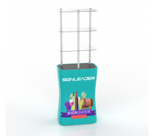 Portable Rectangular Display Rack/ Display Tower Counter With Graphic