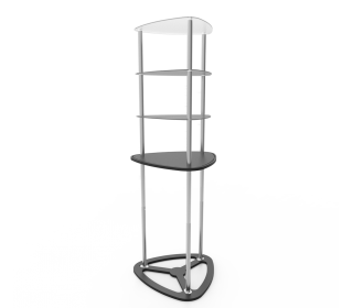 Portable Triangular Display Rack/ Display Tower Counter With Graphic