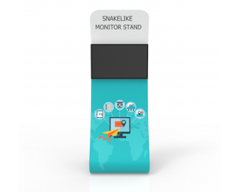 Snakelike Tension Fabric TV Media Monitor Display Banner Stand