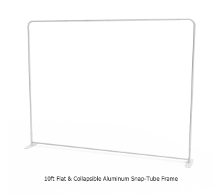 10ft Straight Tension Fabric Display With Podium Case Portable Trade Show Booth