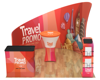 10ft Custom Portable Trade Show Booth Kit L