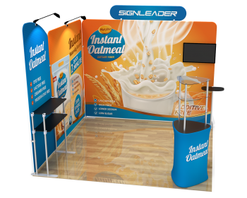 10ft Custom Portable Trade Show Booth Kit T