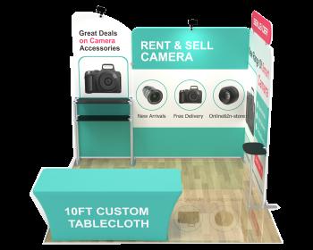 10ft Custom Portable Trade Show Booth Kit U