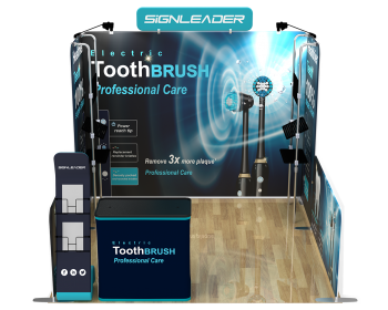10ft Custom Portable Trade Show Booth Kit Y