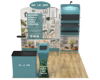 10ft Commercial Portable Custom Trade Show Booth Combo 20