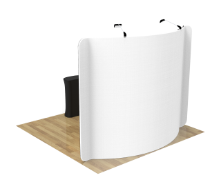 10ft Curved Portable Trade Show Booth Kit 01