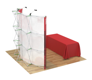 10ft Curved Velcro Portable Trade Show Booth Kit 11