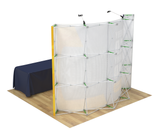 10ft Curved Velcro Portable Trade Show Booth Kit 12