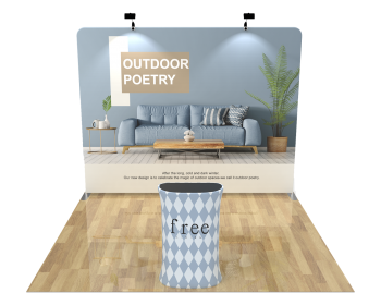 10ft Straight Portable Trade Show Booth Kit 04