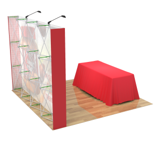 10ft Straight Velcro Portable Trade Show Booth Kit 14