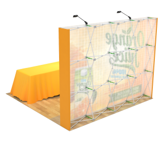 10ft Straight Velcro Portable Trade Show Booth Kit 15