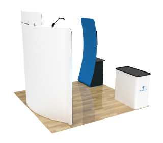 10ft Curved Portable Trade Show Booth Kit 26