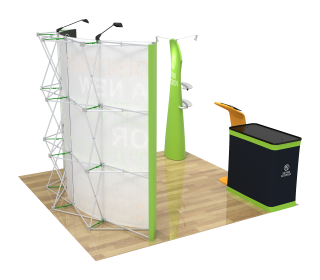 10ft Curved Velcro Portable Trade Show Booth Kit 30