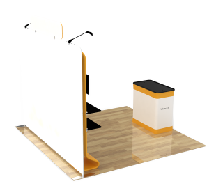 10ft Straight Portable Trade Show Booth Kit 17