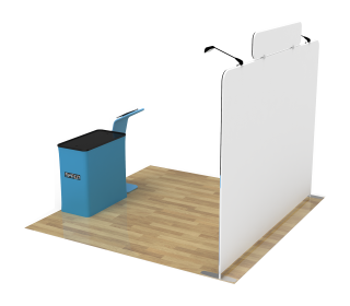 10ft Straight Portable Trade Show Booth Kit 19
