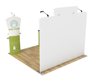 10ft Straight Portable Trade Show Booth Kit 21