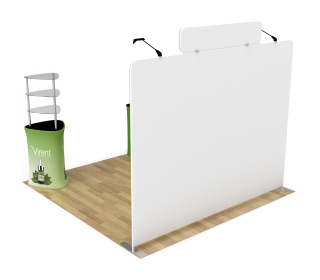 10ft Straight Portable Trade Show Booth Kit 23
