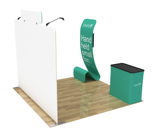 10ft Straight Portable Trade Show Booth Kit 25