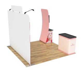 10ft Straight Portable Trade Show Booth Kit 27