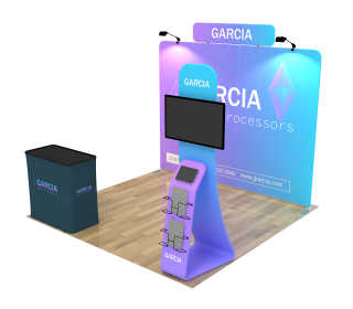 10ft Straight Portable Trade Show Booth Kit 29