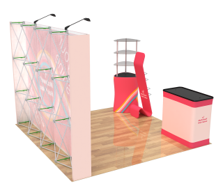 10ft Straight Velcro Portable Trade Show Booth Kit 31