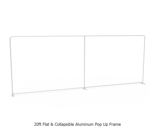 20ft Straight Tension Fabric Display With Podium Case|Portable Trade Show Booth