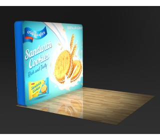 10FT Arc Angle Tension Fabric Backlit Display for Trade Show