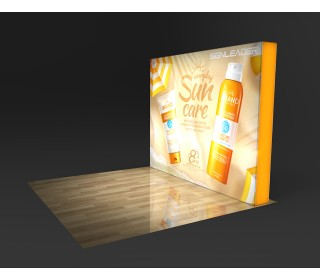 10FT Right Angle Tension Fabric Backlit Display for Trade Show