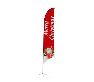 Custom Feather Angled Flag