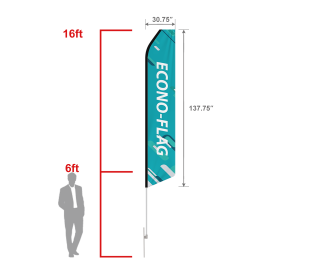 Custom Econo Feather Flag