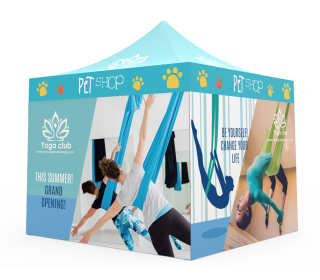 Custom Pop Up Canopy Tent 10x10 with 4 x Single-Sided Full Walls