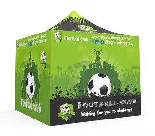 Custom Pop Up Canopy Tent 10x10 with 4 x Double-Sided Full Walls