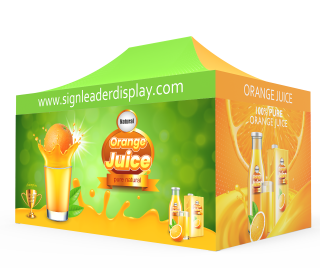 Custom 10x15 Pop Up Canopy Tent with 2 x Double-Sided Full Backwall & 2 x Double-Sided Full Sidewalls