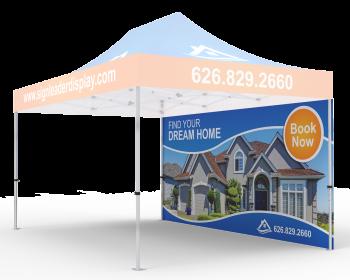 Custom Printed Tent Full Backwall for 10x15 Tent