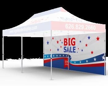 Custom Printed Tent Full Backwall for 10x20 Tent
