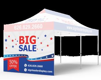 Custom Printed Tent Full Sidewall for 10x20 Tent