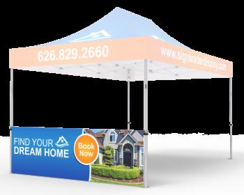 Custom Printed Tent Half Sidewall for 10x15 Tent