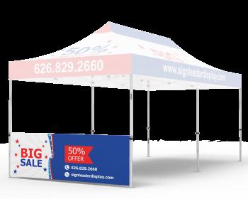 Custom Printed Tent Half Sidewall for 10x20 Tent
