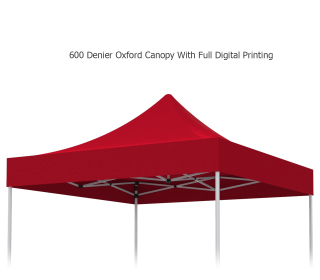 Unprinted Red 10 x 10 Pop Up Canopy Tent