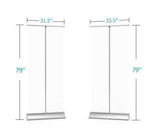 Retractable Sneeze Guard Clear Isolation Barrier with Deluxe Base