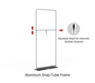 Adjustable Public Automatic Infrared Induction Hand Sanitizer Dispenser Banner Holder Kit