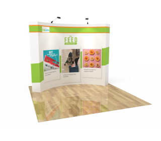 10ft Curved Velcro Fabric Pop Up Display