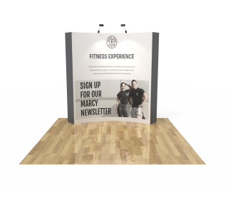 8ft Curved Velcro Fabric Pop Up Display