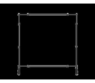 8x8ft Green & White Custom Telescopic Aluminum Tube Tension Fabric Video Backdrop Banner Stand