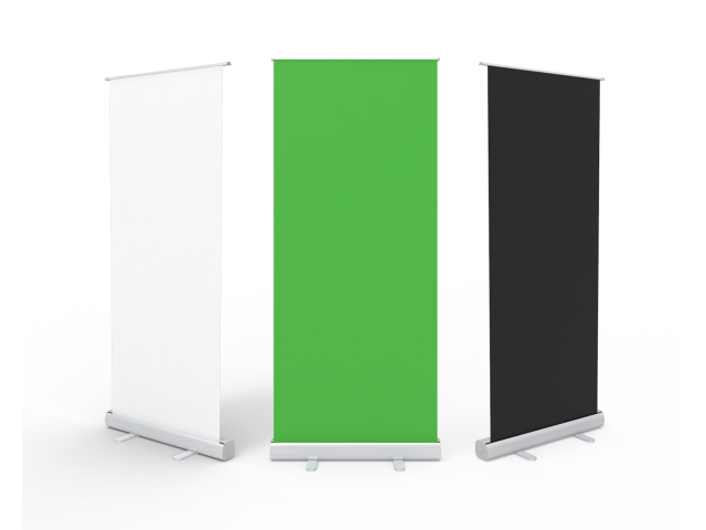 Retractable & Portable Green Screen Video Backdrop Banner Stand for Online Meeting