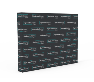 Step and Repeat Video Backdrop Pop Up Display with Custom Graphic Printed