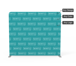 Custom Step and Repeat Video Backdrop Tension Fabric Display